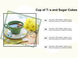 Cup Of Tea And Sugar Cubes