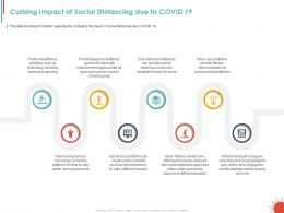 Curbing Impact Of Social Distancing Due To Covid 19 Ppt Powerpoint Presentation Template