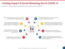 Curbing Impact Of Social Distancing Due To Covid 19 Virtual Training Ppt Presentation Show