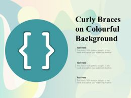 Curly Braces On Colourful Background