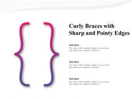 Curly Braces With Sharp And Pointy Edges