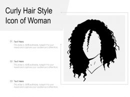 Curly Hair Style Icon Of Woman