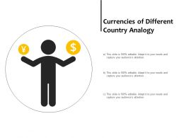 Currencies Of Different Country Analogy