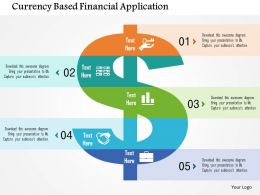 Currency Based Financial Application Flat Powerpoint Design