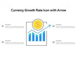 Currency Growth Rate Icon With Arrow