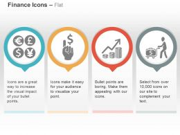 Currency Icons Dollar Growth Financial Transfer Ppt Icons Graphics