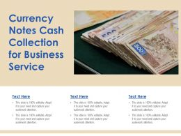 Currency Notes Cash Collection For Business Service