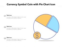 Currency Symbol Coin With Pie Chart Icon