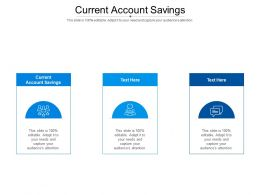 Current Account Compare Ppt Powerpoint Presentation Summary Graphics Example Cpb