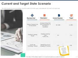 Current And Target State Scenario Growth Ppt Powerpoint Presentation Outline Slide Download