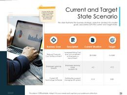 Current And Target State Scenario Technology Disruption In HR System Ppt Sample