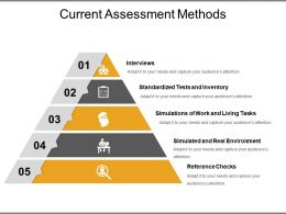 Current Assessment Methods Ppt Samples Download