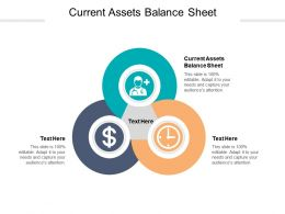 Current Assets Balance Sheet Ppt Powerpoint Presentation Styles Graphics Example Cpb