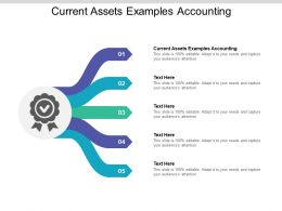 Current Assets Examples Accounting Ppt Powerpoint Presentation Objects Cpb