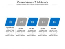 Current Assets Total Assets Ppt Powerpoint Presentation Professional Examples Cpb