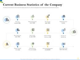 Current Business Statistics Of The Company Count Ppt Powerpoint Presentation Outline Portrait