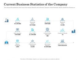 Current Business Statistics Of The Company Ppt Graphics Download