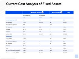 Current Cost Analysis Of Fixed Assets RPI Adjustment Ppt Powerpoint Presentation Show Example Topics