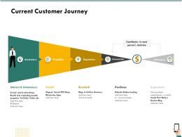 Current Customer Journey Purchase Ppt Infographics