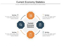 Current Economy Statistics Ppt Powerpoint Presentation Show Themes Cpb