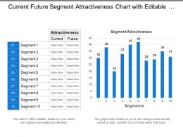 Current Future Segment Attractiveness Chart With Editable Graph