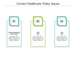 Current Healthcare Policy Issues Ppt Powerpoint Presentation Inspiration Cpb