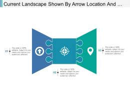 Current Landscape Shown By Arrow Location And Target Icon