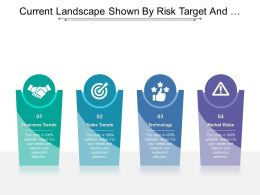 Current Landscape Shown By Risk Target And Handshake Icons
