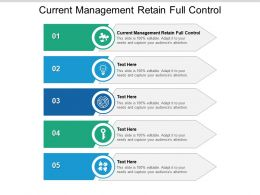 Current Management Retain Full Control Ppt Powerpoint Presentation Visual Aids Background Images Cpb