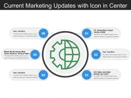 Current Marketing Updates With Icon In Center