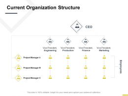 Current Organization Structure Finance Marketing Ppt Powerpoint Presentation File Samples