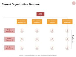 Current Organization Structure Planning Ppt Powerpoint Presentation Gallery Pictures
