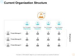 Current Organization Structure Ppt Powerpoint Presentation Slides