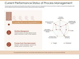 Current Performance Status Of Process Management Ppt Outline Show