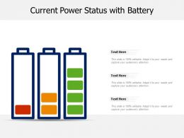 Current Power Status With Battery