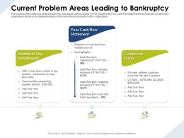 Current Problem Areas Leading To Bankruptcy Poor Cash Flow Ppt Presentation Slide