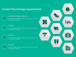 Current Psychology Experiments Ppt Powerpoint Presentation Styles Designs Download