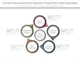 Current Recruitment And Selection Powerpoint Slide Download
