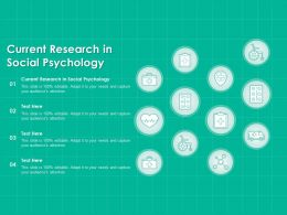 Current Research In Social Psychology Ppt Powerpoint Presentation Infographics Files