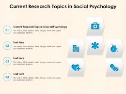 Current Research Topics In Social Psychology Ppt Powerpoint Presentation Styles Clipart