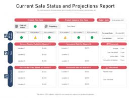 Current Sale Status And Projections Report