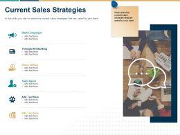 Current Sales Strategies Ppt Powerpoint Presentation Icon Slide Download