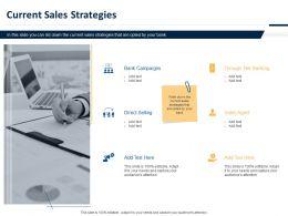 Current Sales Strategies Ppt Powerpoint Presentation Summary Master Slide