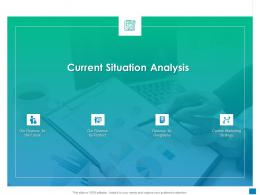 Current Situation Analysis New Business Development And Marketing Strategy Ppt Model Vector