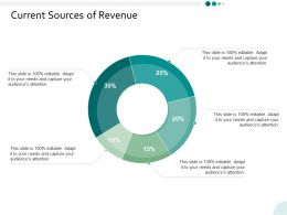 Current Sources Of Revenue Ppt Powerpoint Presentation Infographics Backgrounds