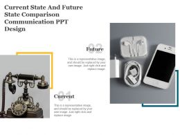 Current State And Future State Comparison Communication Ppt Design