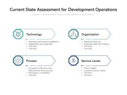 Current State Assessment For Development Operations