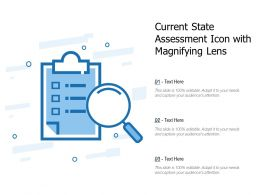 Current State Assessment Icon With Magnifying Lens