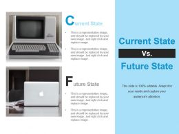 Current State Future State Editable Slide Computers Ppt Icon