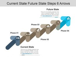 Current State Future State Steps 6 Arrows Powerpoint Slide Design Ideas